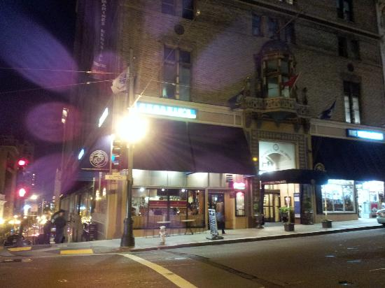 Cesario's: From outside at night