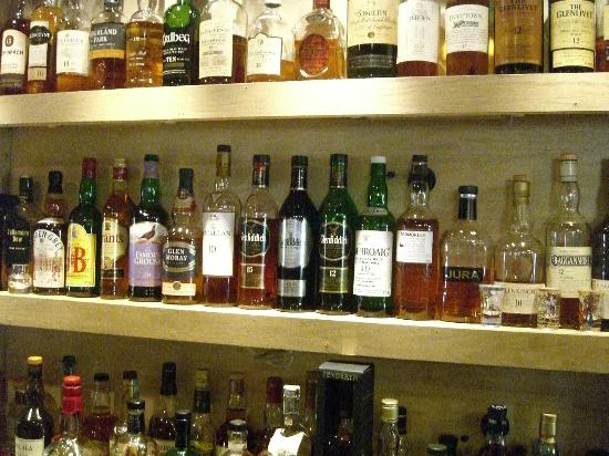 Lealholm, UK: lots of nice whisky
