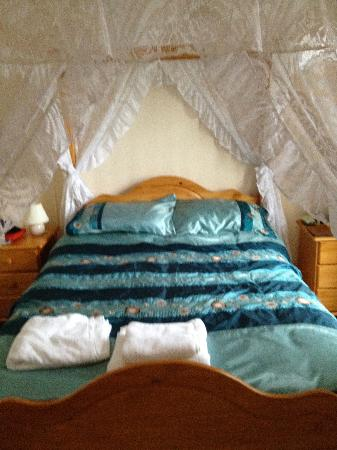 Taldrwst Bed & Breakfast: Four poster bed
