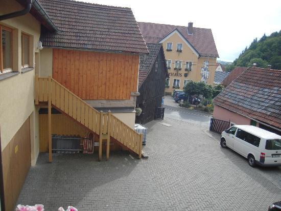 Hotel-Gasthof-Hereth: Vista dalla terrazza