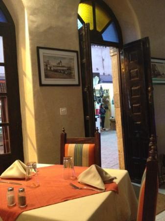 Dar Mounia : ingang restaurant