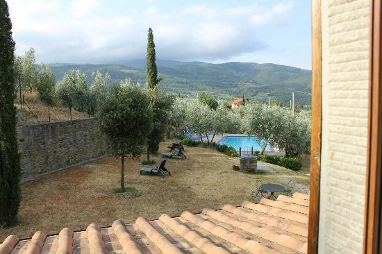 Le Capanne Agriturismo: view from our bathroom