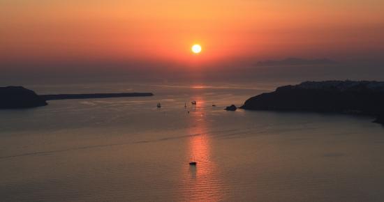 Gizis Exclusive: Le fameux coucher de soleil de Santorin