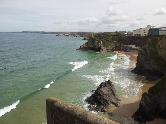 Trebarwith Hotel: beach view