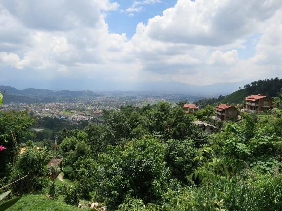 Shivapuri Heights Cottage: View over Kathmandu