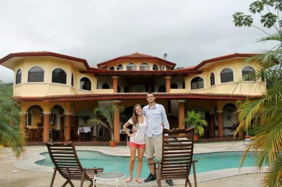 Villa Los Aires/Las Aguas Lodge: Posing in front of Villa