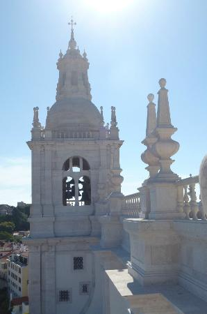 Igreja da Sao Vicente de Fora: The bell tower from the roof top