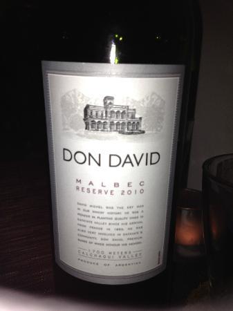 barVino: Great bottle of Malbec