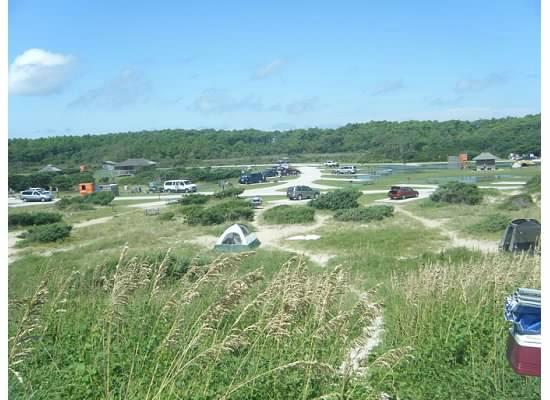 Ocracoke Campground: Ocracoke site- view from dune