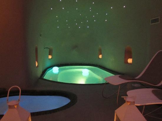 Avaton Resort : Zone Spa qui fait également restaurant le soir