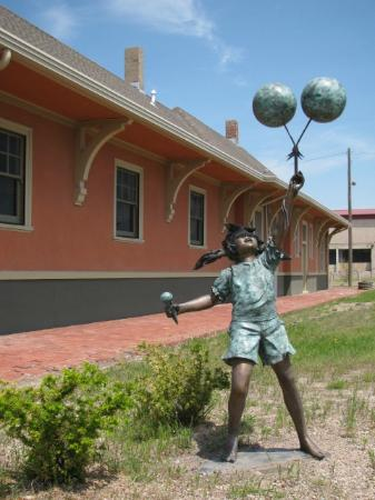 National Orphan Train Complex: The grounds have unique bronze statues of children at play.
