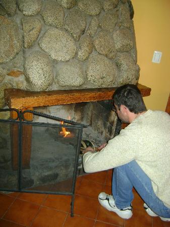 Cabanas el Viejo Marquez: Queriendo usar todos los implementos de los q disponíamos para un fuego exitoso