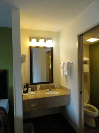 Sleep Inn I 95 North Savannah : Bathroom - Separate area with sink & mirror