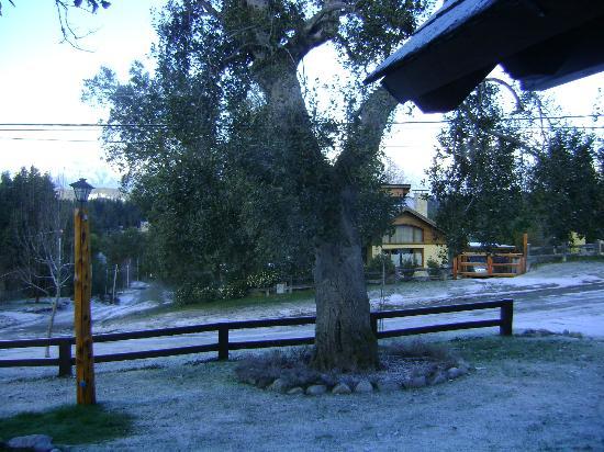 Cabanas El Viejo Marquéz: Desde el ventanal mas pequeño del comedor