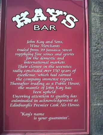kays bar sign