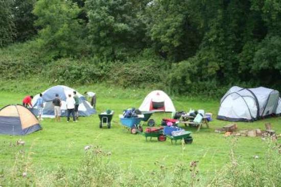 Thistledown Farm: Camp site almost set up