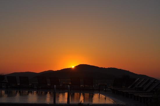Odysseus Hotel: Puesta de sol desde la habitación