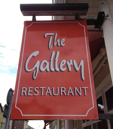 Alcock & Brown Hotel: The Gallery Restaurant sign