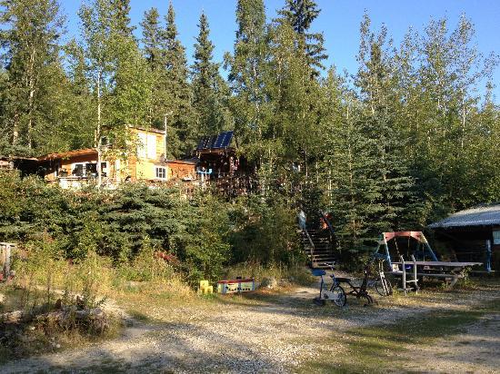 Dawson City River Hostel : Campground courtyard