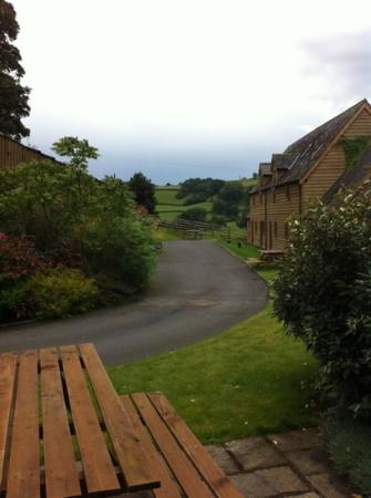 Highgate Cottages: converted barn with the view.