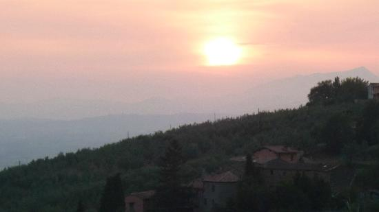 Sun set over casa Carbonaia