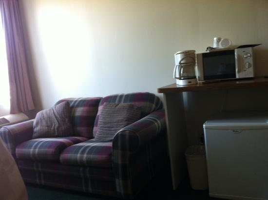 Dansville, NY: sitting area in suite