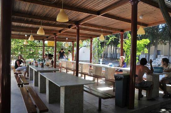Krios Beach Camping: Ο χώρος εστίασης