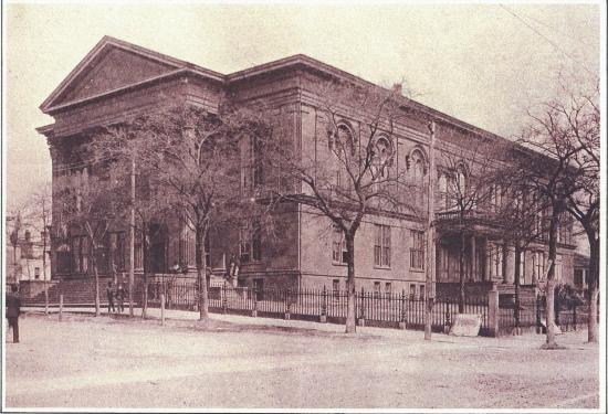 Thalian Hall Center for the Performing Arts: Exterior, Historic City Hall and original entrance to Thalian Hall, circa 1898.