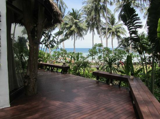 Koh Tao Cabana: Terrasse de la villa Ma Kam