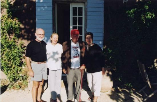 La Bastide Rose : Yours truly, Poppy and Pierre Salinger, and my wife Fay