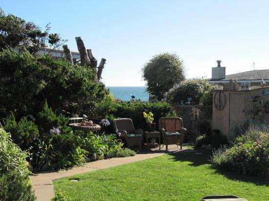 Seaside Motel: Garden Area