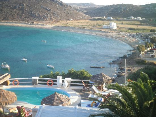 Panormos Village: vistas desde el apartamento a la playa de panormos 
