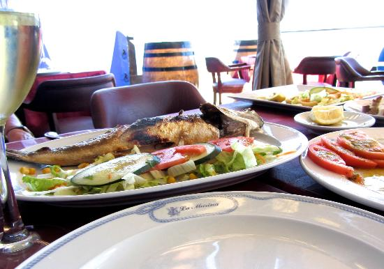 La Marina: Superbly grilled fresh Sea Bass