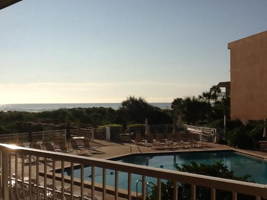 The Beach Club at St Augustine: View from our room, St Augustine Beach