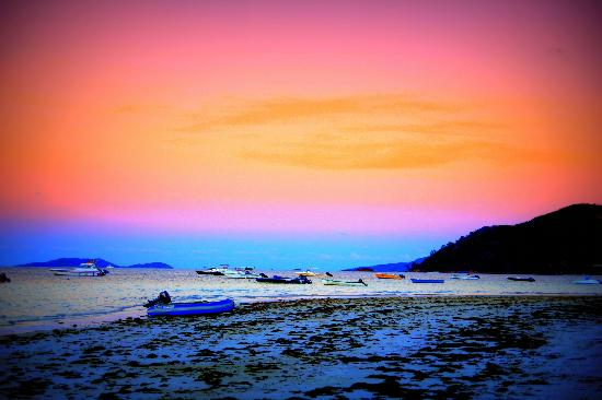 Berjaya Praslin Resort - Seychelles: Sunset on the beach Anse Volbert