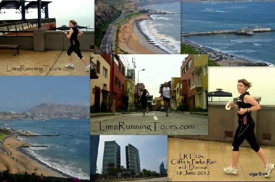 Lima Running Tours: Some views of our already famous Cliffs & Parks Run!