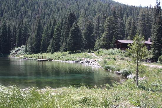 Flat Creek Ranch : The lodge nestled in the trees