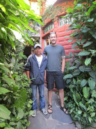 Lush Atitlan/Hotel Aaculaax: Me & Byron