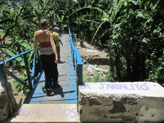 Lush Atitlan/Hotel Aaculaax: Entering Jaibalito at the end of our amazing hike with Byron!