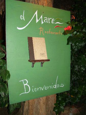 Restaurantde El Mare : El Menú, a sus órdenes.