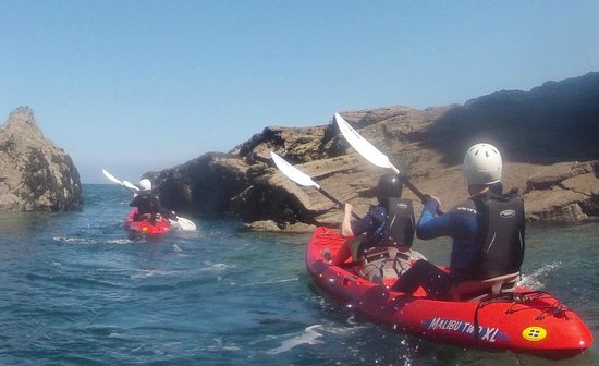 Cornish Coast  Adventures: Sea kayaking on stable sit on tops.