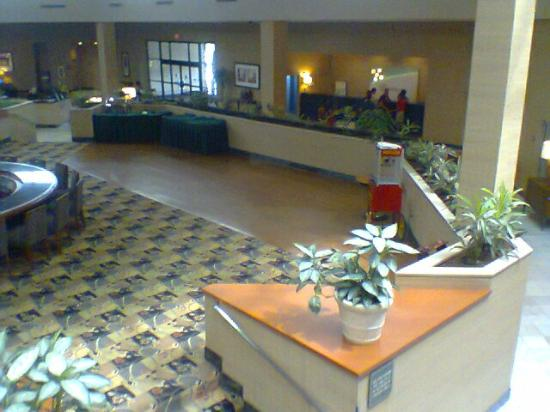Holiday Inn Philadelphia South-Swedesboro: View from 2nd floor onto bar/dining/check-in lobby