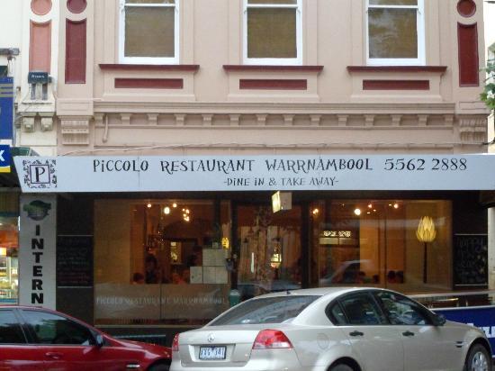 Piccolo Restaurant Warrnambool: esterno del ristorante