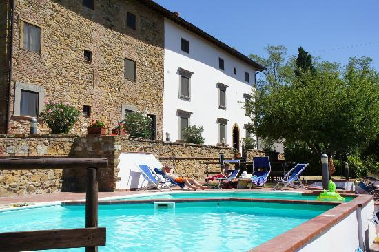 Borgo La Casaccia: view from one of the pools towards the house