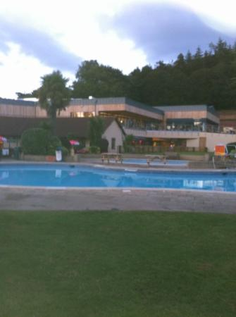 Dawlish, UK: Twilight view of new clubhouse