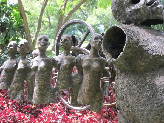 Casa Santo Domingo: Hanging art installation - sculptures