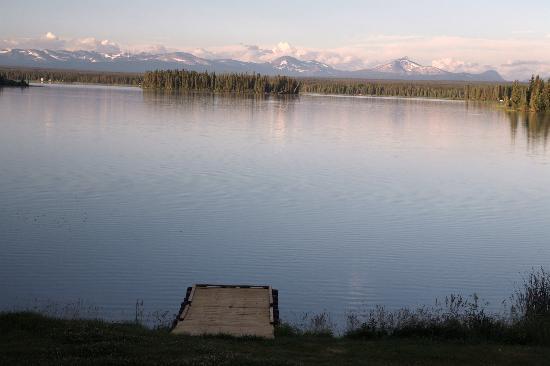 Stewart's Lodge & Camps : vue depuis le bungalow