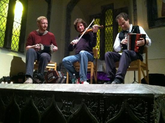 Tunes in the Church : three masters of music!
