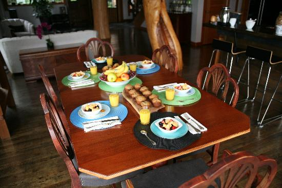 Ukee Treehouse B&B : le breakfast