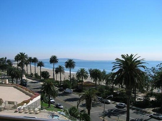 Santa Monica, CA: ocean avenue, birds eye view.